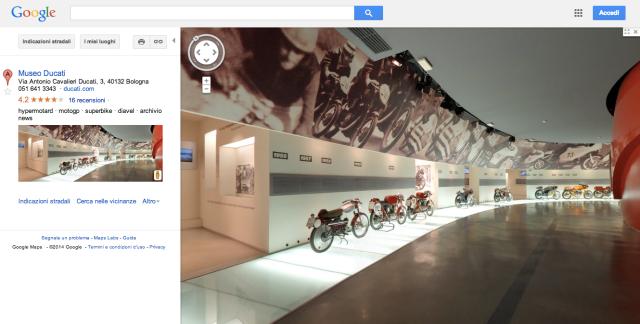 Ducati Museum bei Google Maps