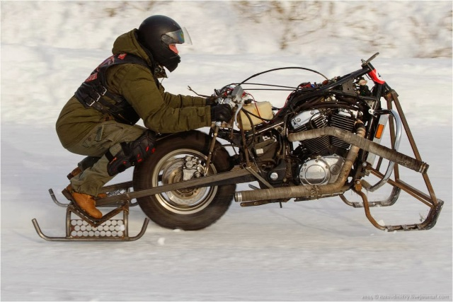 Uni-Moto Ice Drag Racing