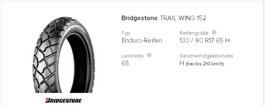 Bridgestone Trail Wing 152 130   80 R17 65 H   tirendo.de