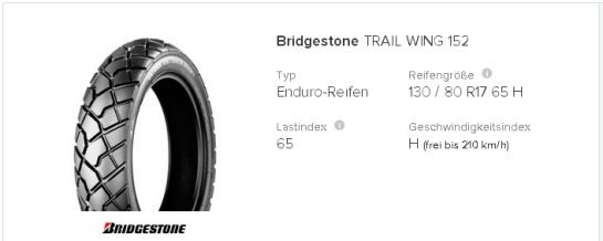 Bridgestone Trail Wing 152 130   80 R17 65 H   tirendo.de