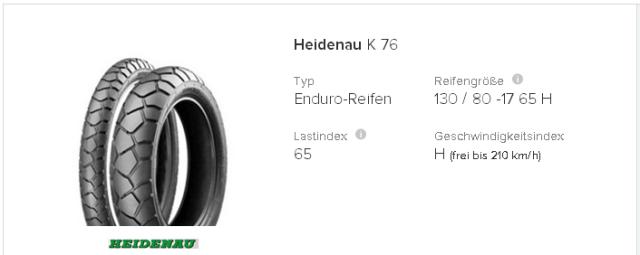Heidenau K 76 130   80  17 65 H   tirendo.de