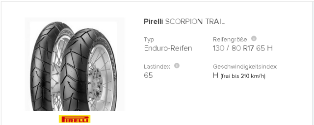 Pirelli Scorpion Trail 130   80 R17 65 H   tirendo.de