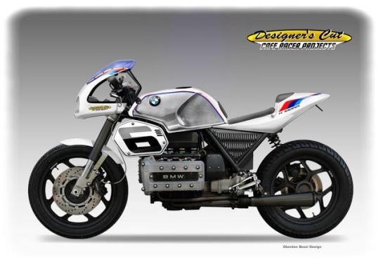 BMW K100 Café Racer Konzept von Oberdan Bezzi