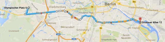 DGR Berlin 2014 Route