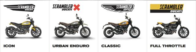 Ducati-Scrambler-Versionen