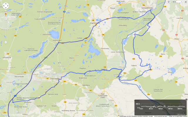 Route Februarausfahrt 2015