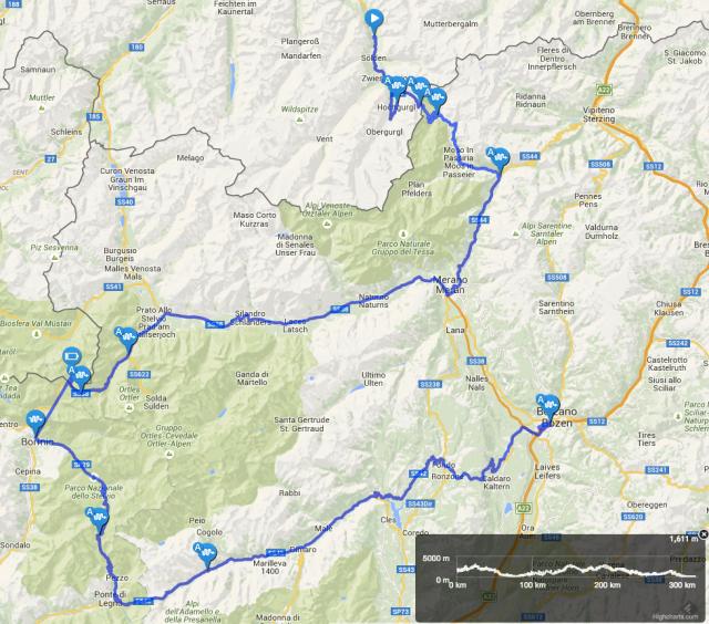 Alpenblitz Route Tag 2