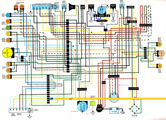 Honda-CB-CJ250-Electrical-Wiring-Diagram