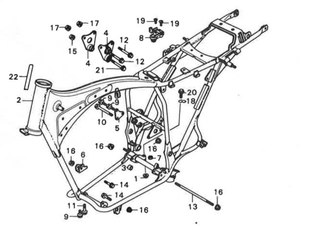 Honda_CJ_250_T_Rahmen