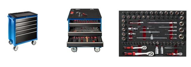 Gaerner Werkzeugwagen mit 137 Werkzeugen